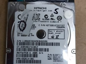 320gb Hitachi 2.5 Sata Hard Drive
